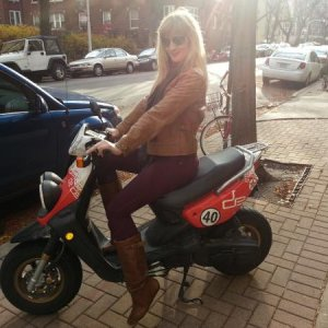she likes the scooter ;)